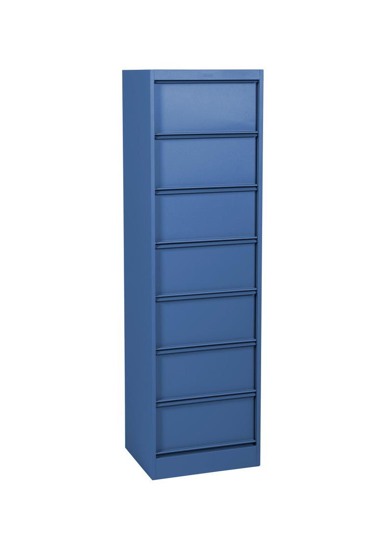 For Sale: Blue (Myrtille) CC7 Industrial Cabinet in Pop Colors by Xavier Pauchard and Tolix 4
