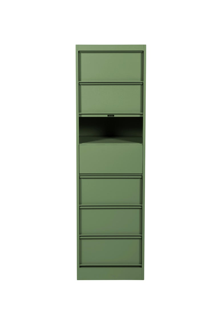 For Sale: Green (Romarin) CC7 Industrial Cabinet in Pop Colors by Xavier Pauchard and Tolix