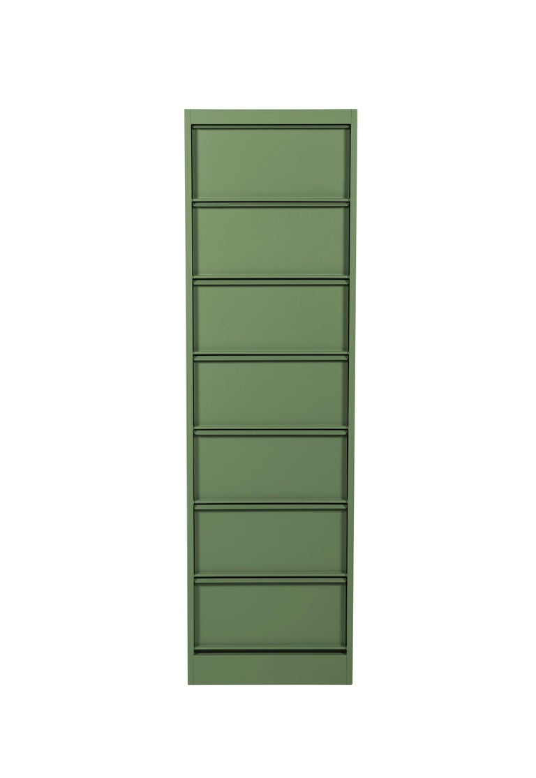 For Sale: Green (Romarin) CC7 Industrial Cabinet in Pop Colors by Xavier Pauchard and Tolix 2