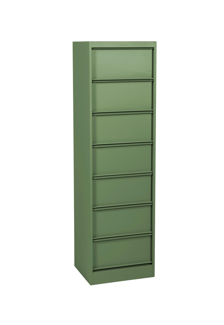 For Sale: Green (Romarin) CC7 Industrial Cabinet in Pop Colors by Xavier Pauchard and Tolix 3
