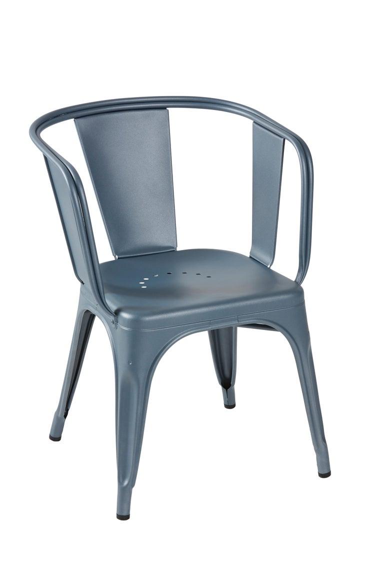 For Sale: Blue (Bleu Provence) D-Armchair in Pop Colors by Xavier Pauchard & Tolix 3