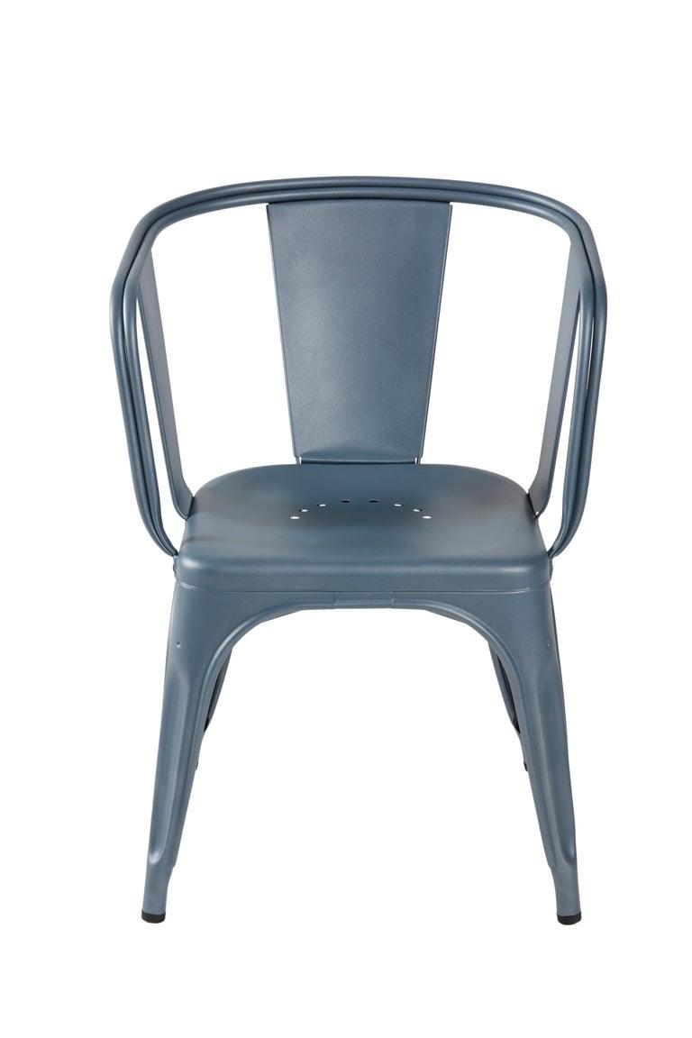 For Sale: Blue (Bleu Provence) D-Armchair in Pop Colors by Xavier Pauchard & Tolix 2