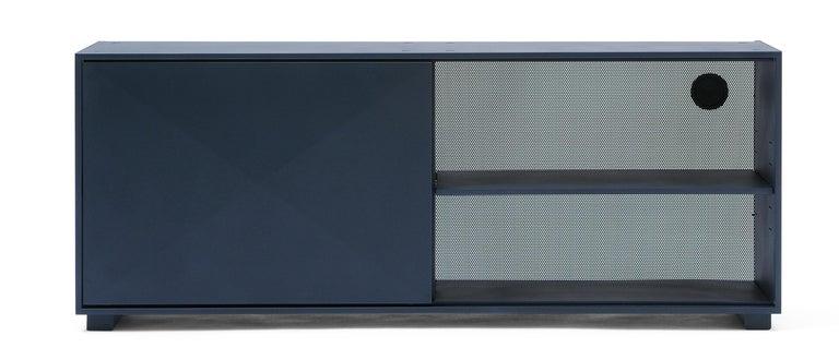 For Sale: Blue (Bleu Nuit) Diamond Lowboard in Pop Colors by Normal Studio & Tolix 2