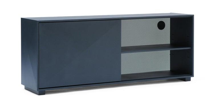 For Sale: Blue (Bleu Nuit) Diamond Lowboard in Pop Colors by Normal Studio & Tolix 3