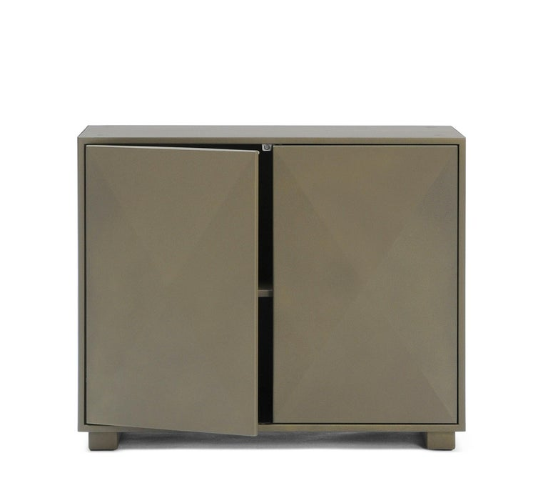 For Sale: Brown (Kaki) Diamond Side Cabinet in Pop Colors by Normal Studio & Tolix 3