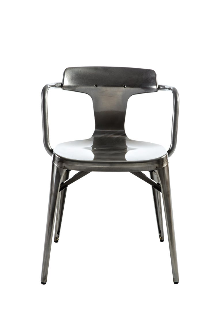 For Sale: Gray (Vernis Brilliant) T14 Chair in Essential Colors by Patrick Norguet and Tolix 2