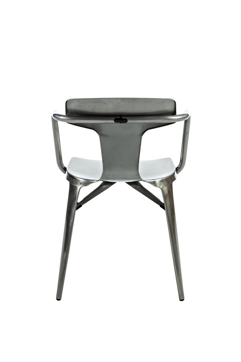 For Sale: Gray (Vernis Brilliant) T14 Chair in Essential Colors by Patrick Norguet and Tolix 3