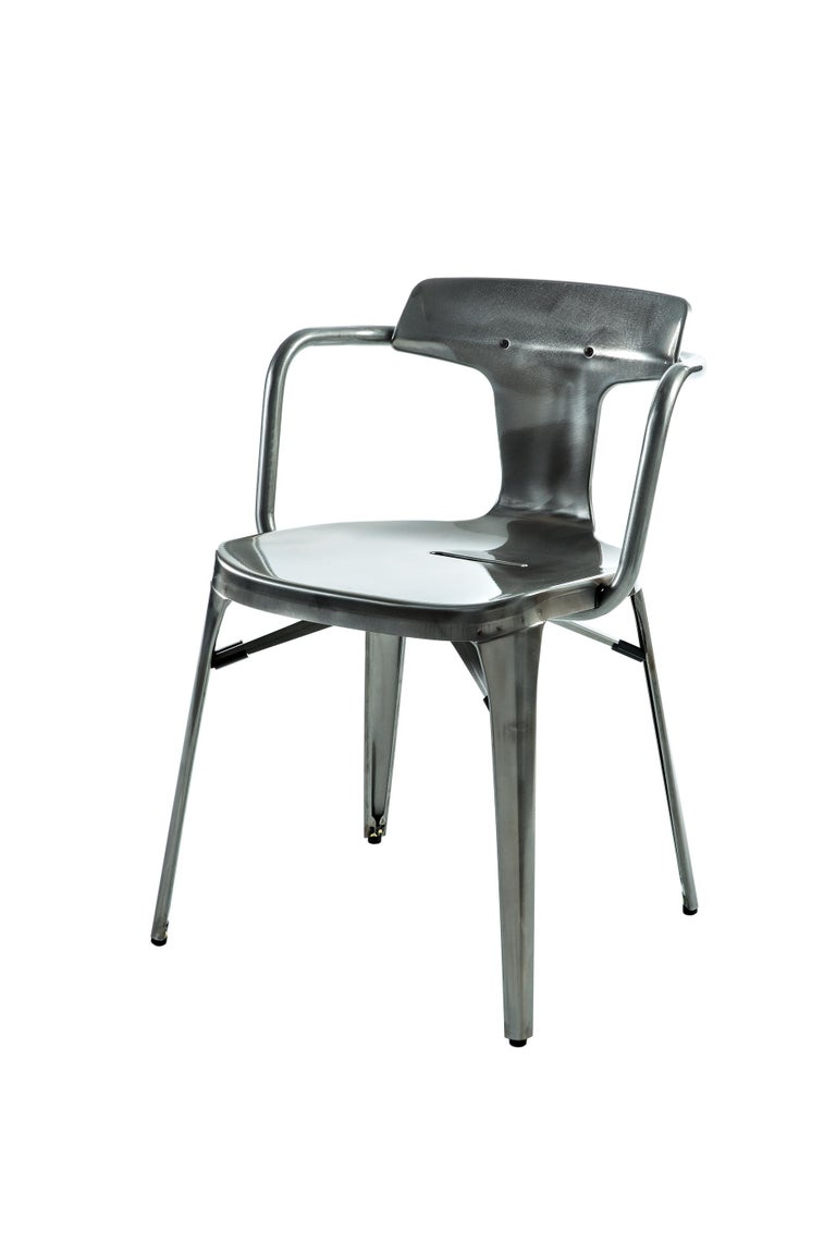 For Sale: Gray (Vernis Brilliant) T14 Chair in Essential Colors by Patrick Norguet and Tolix 4