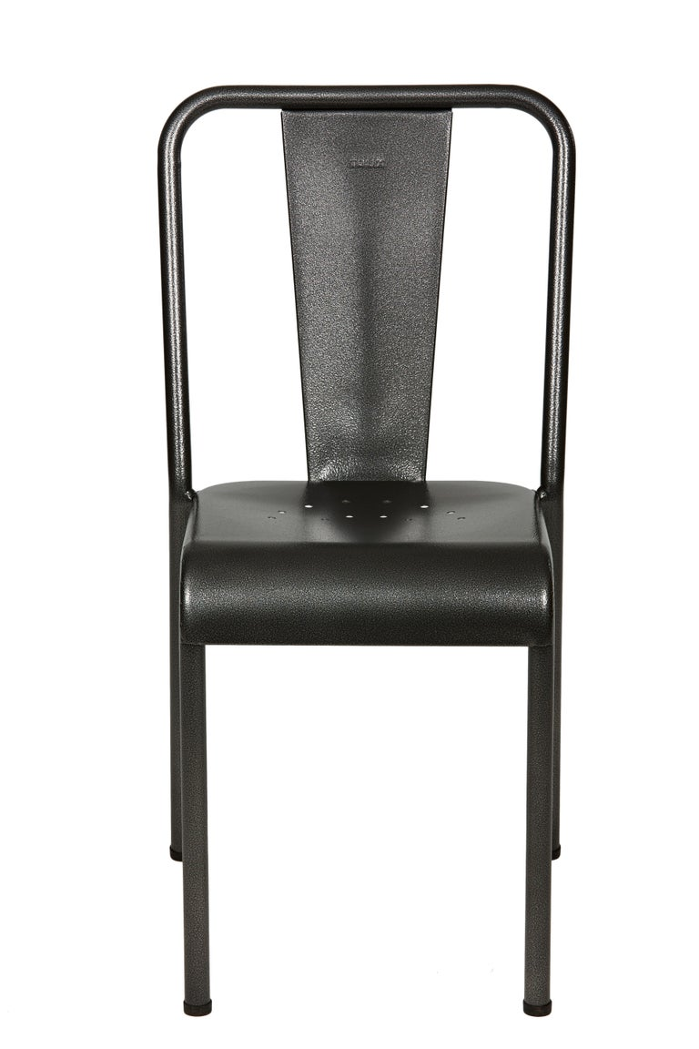 For Sale: Gray (Gris Martelé) T37 Chair in Pop Colors by Xavier Pauchard and Tolix 2