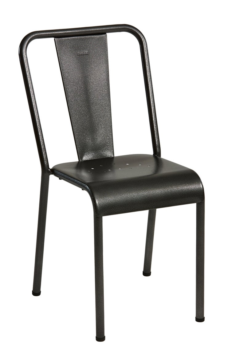 For Sale: Gray (Gris Martelé) T37 Chair in Pop Colors by Xavier Pauchard and Tolix 3