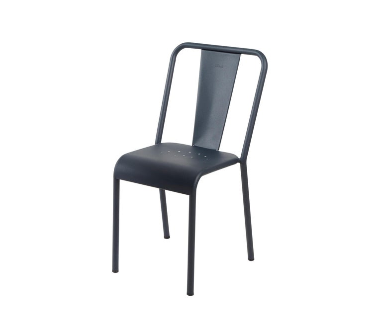 For Sale: Blue (Bleu Nuit) T37 Chair in Pop Colors by Xavier Pauchard and Tolix