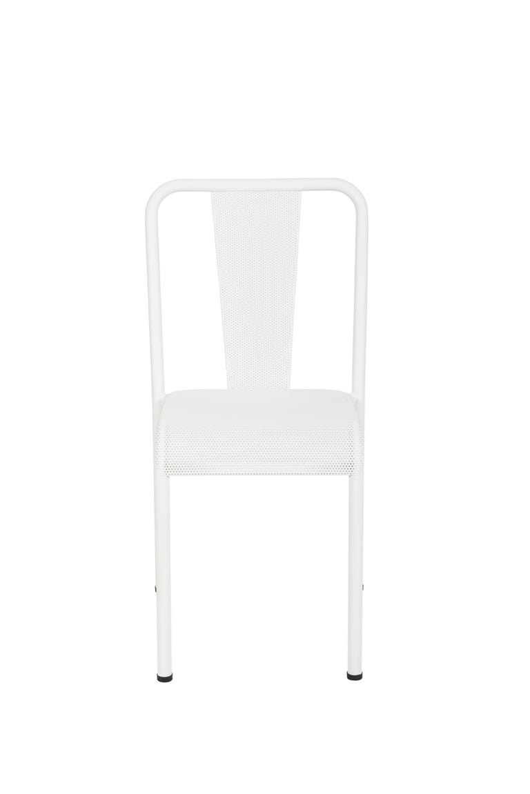 For Sale: White (Blanc) T37 Perforated Chair in Essential Colors by Xavier Pauchard and Tolix