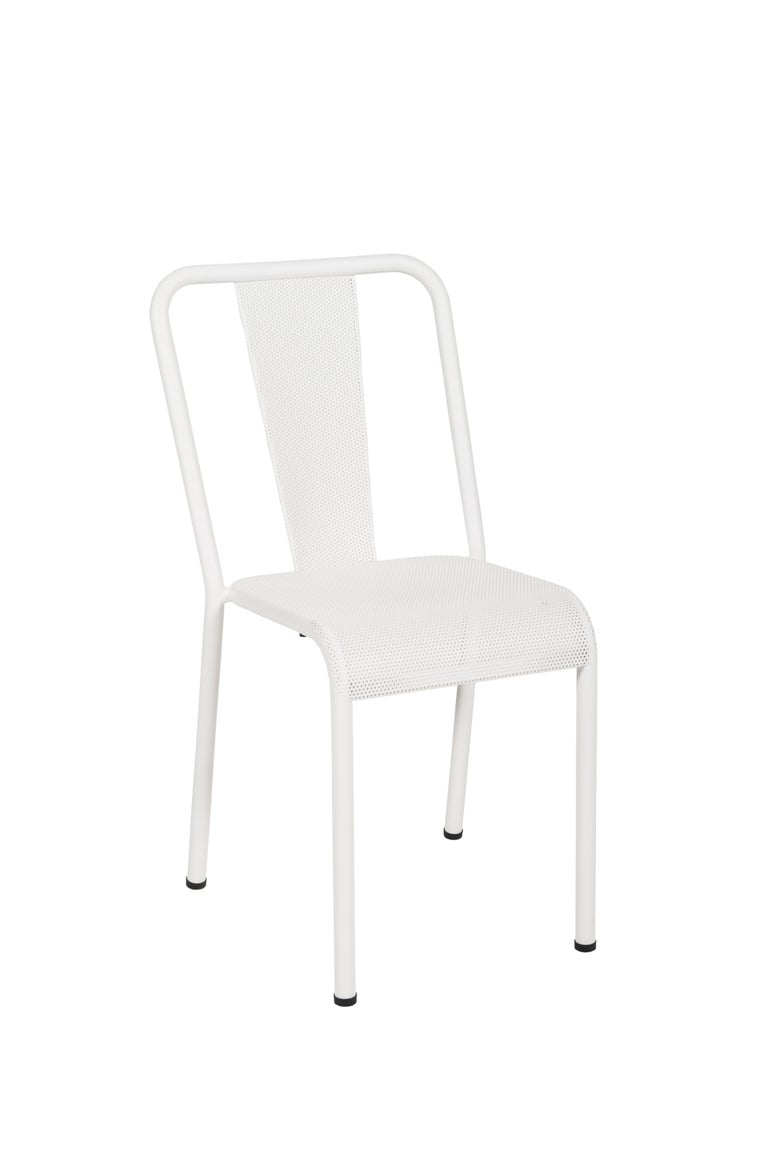 For Sale: White (Blanc) T37 Perforated Chair in Essential Colors by Xavier Pauchard and Tolix 2