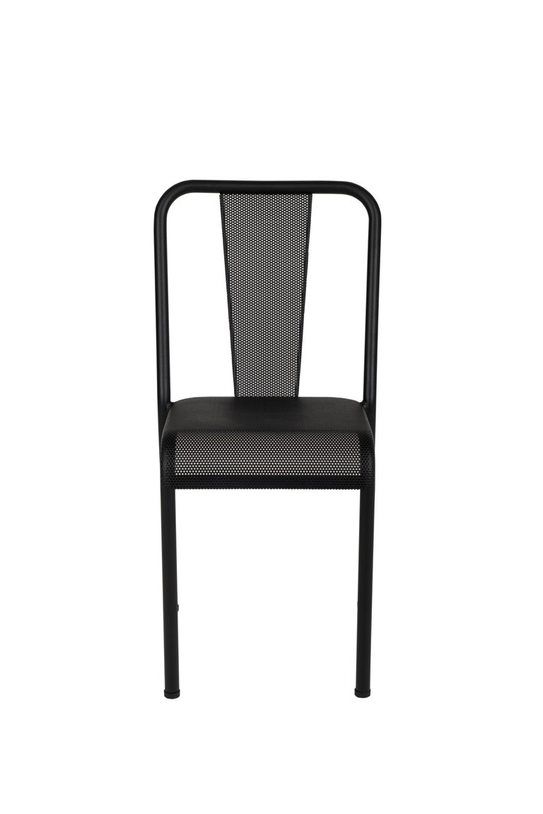 For Sale: Black (Noir) T37 Perforated Chair in Essential Colors by Xavier Pauchard and Tolix
