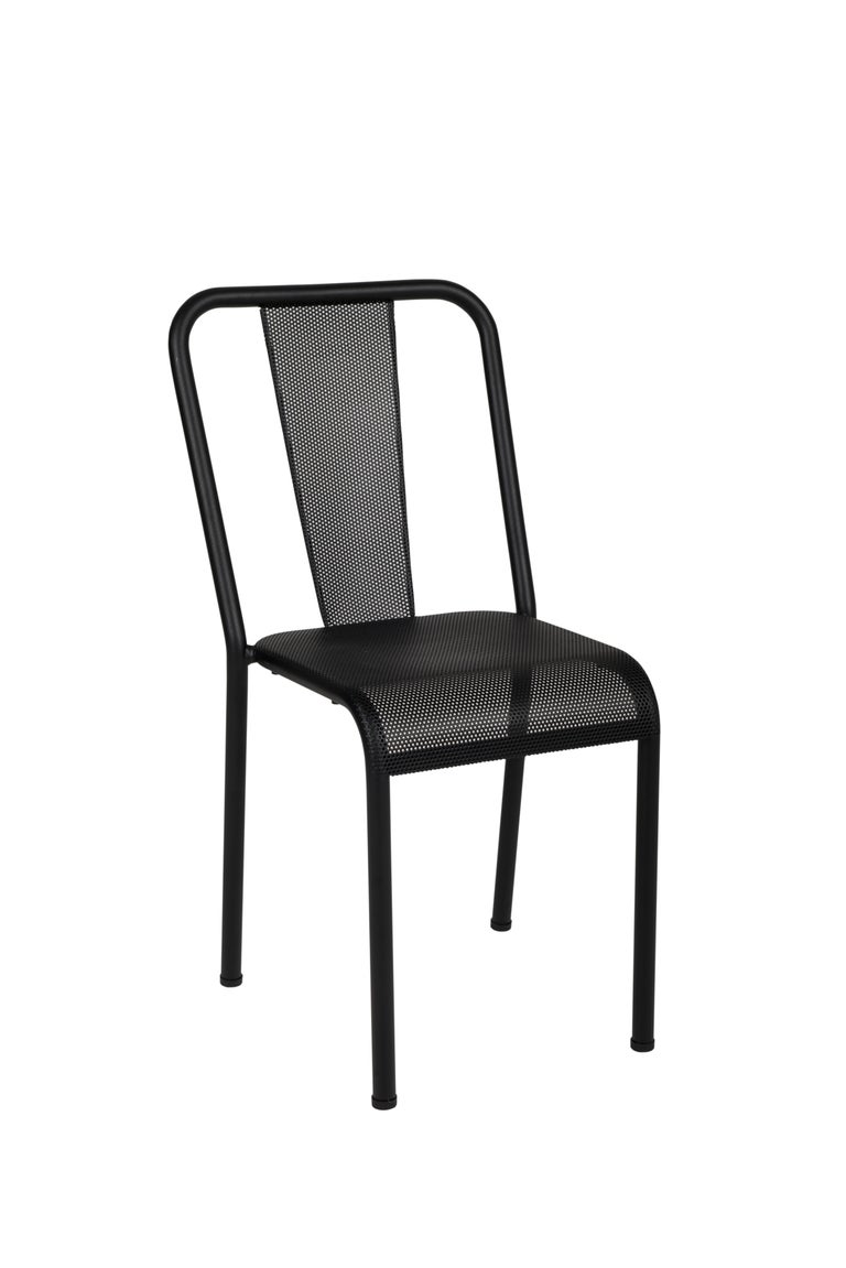 For Sale: Black (Noir) T37 Perforated Chair in Essential Colors by Xavier Pauchard and Tolix 2