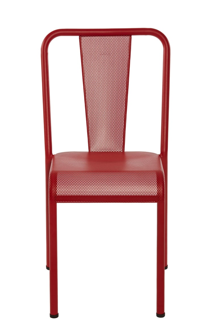 For Sale: Red (Piment) T37 Perforated Chair in Essential Colors by Xavier Pauchard and Tolix