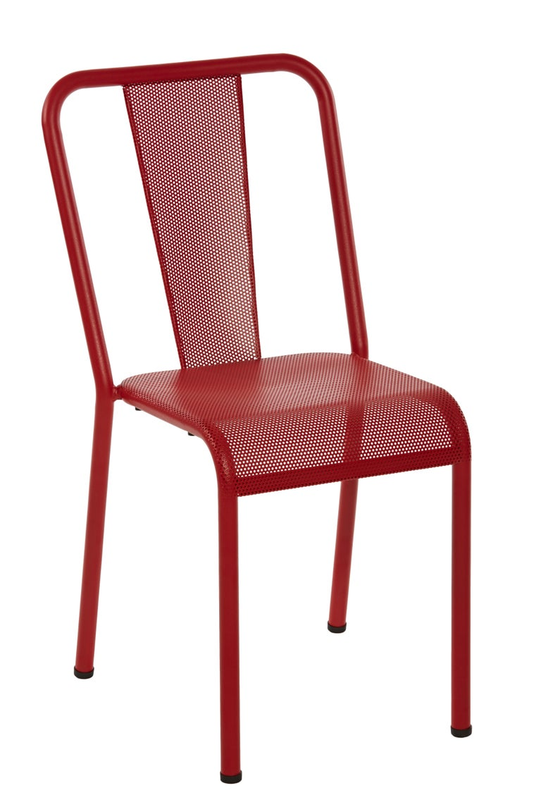 For Sale: Red (Piment) T37 Perforated Chair in Essential Colors by Xavier Pauchard and Tolix 2