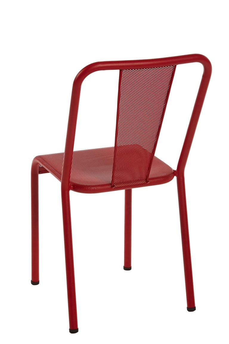 For Sale: Red (Piment) T37 Perforated Chair in Essential Colors by Xavier Pauchard and Tolix 3
