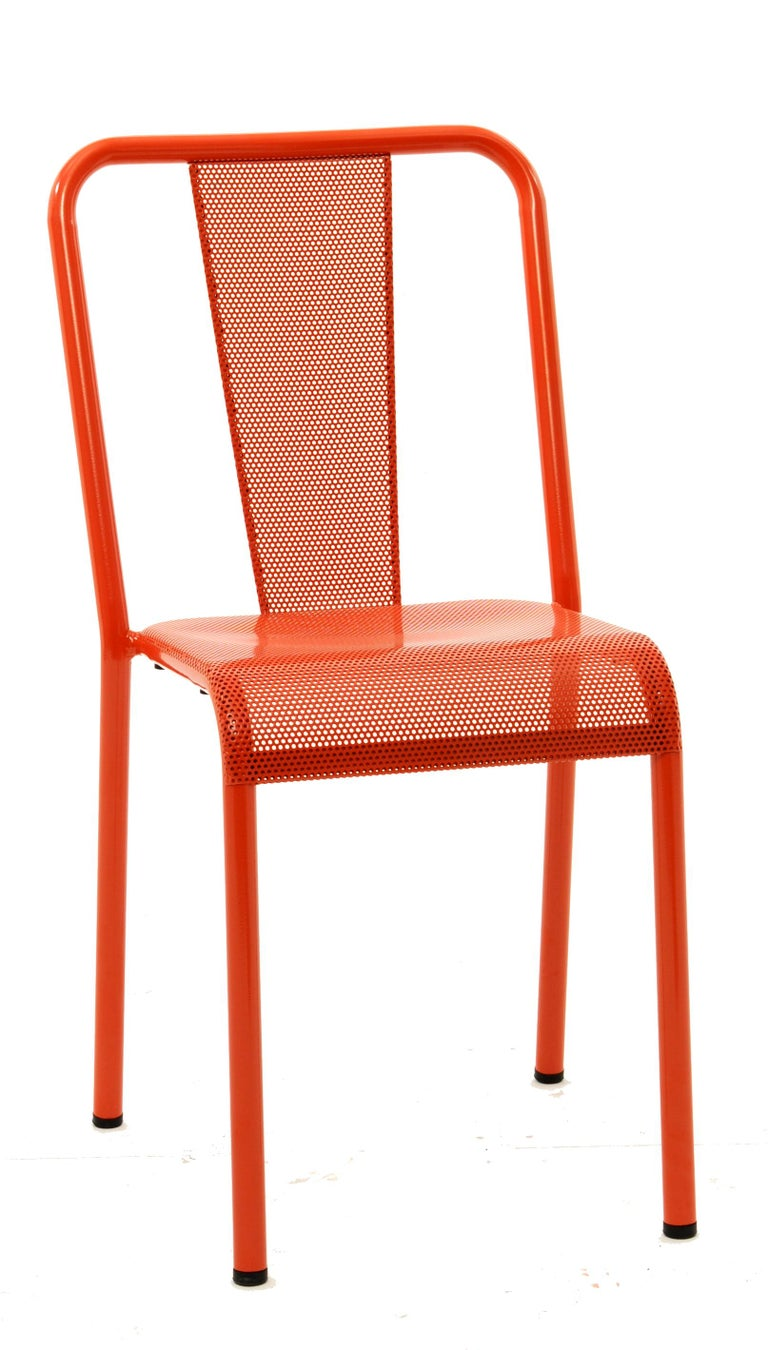 For Sale: Orange (Potiron) T37 Perforated Chair in Essential Colors by Xavier Pauchard and Tolix