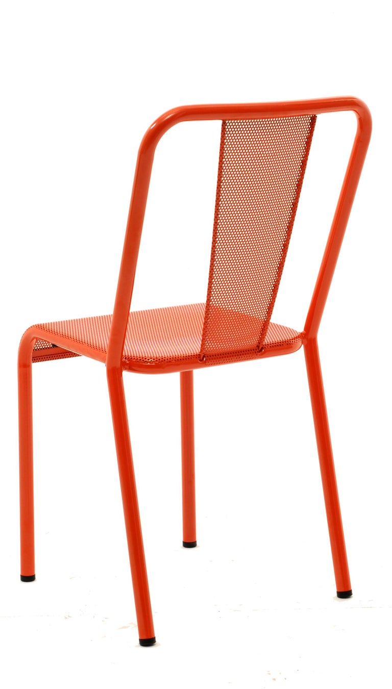 For Sale: Orange (Potiron) T37 Perforated Chair in Essential Colors by Xavier Pauchard and Tolix 2