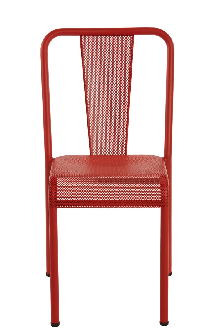 For Sale: Red (Poivron) T37 Perforated Chair in Essential Colors by Xavier Pauchard and Tolix 2