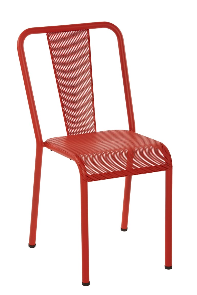 For Sale: Red (Poivron) T37 Perforated Chair in Essential Colors by Xavier Pauchard and Tolix 3