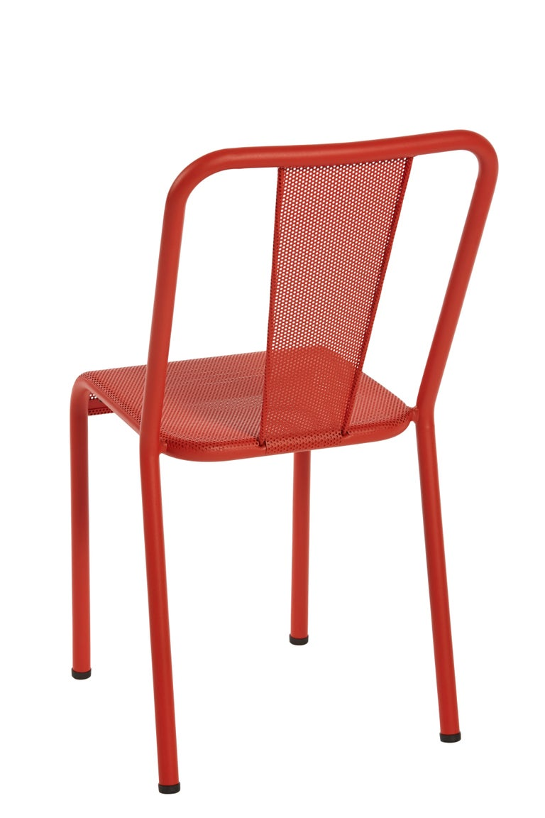 For Sale: Red (Poivron) T37 Perforated Chair in Essential Colors by Xavier Pauchard and Tolix 4