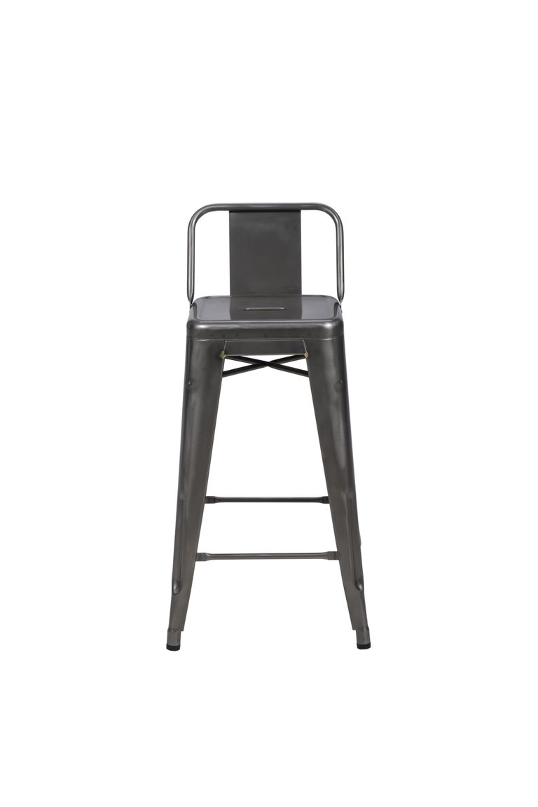 H Stool 65 With Low Back In Essential Colors By Tolix