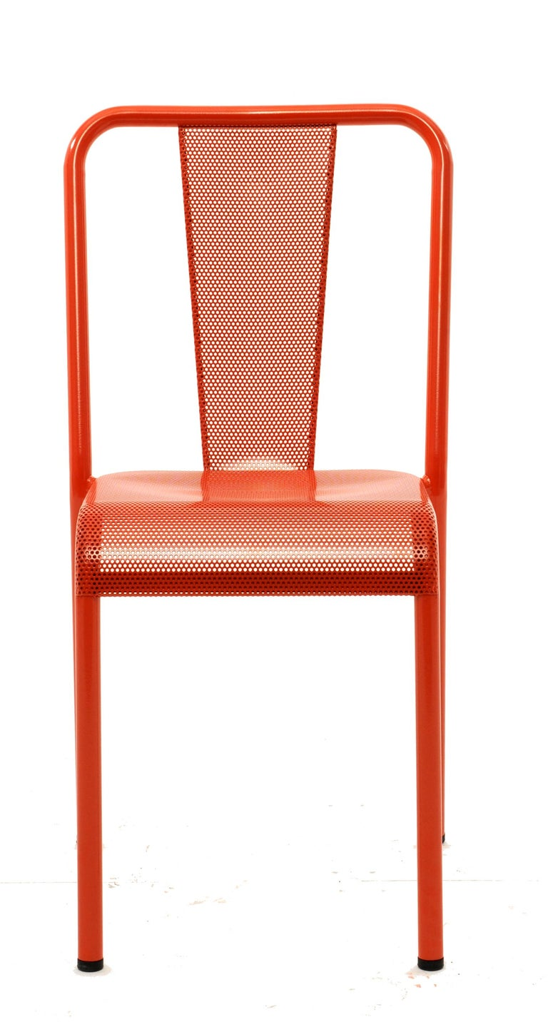 For Sale: Pink (Corail) T37 Chair Perforated in Pop Colors by Xavier Pauchard and Tolix 2