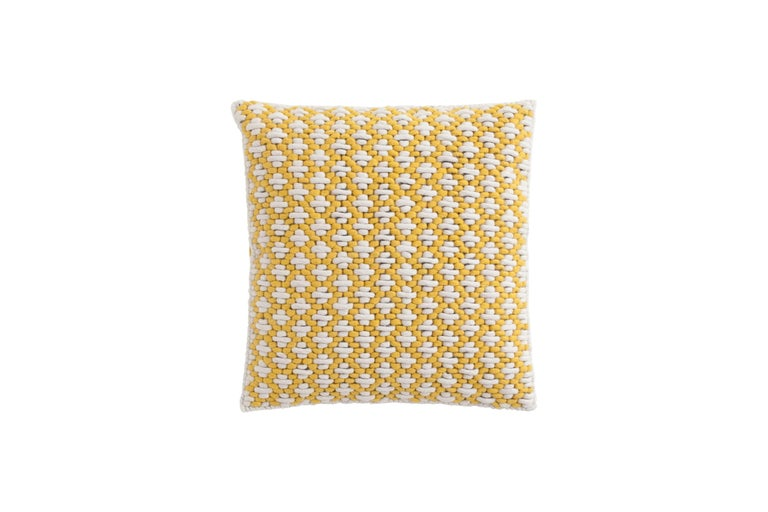 For Sale: undefined (Yellow) GAN Silaï Pillow in Blue and White