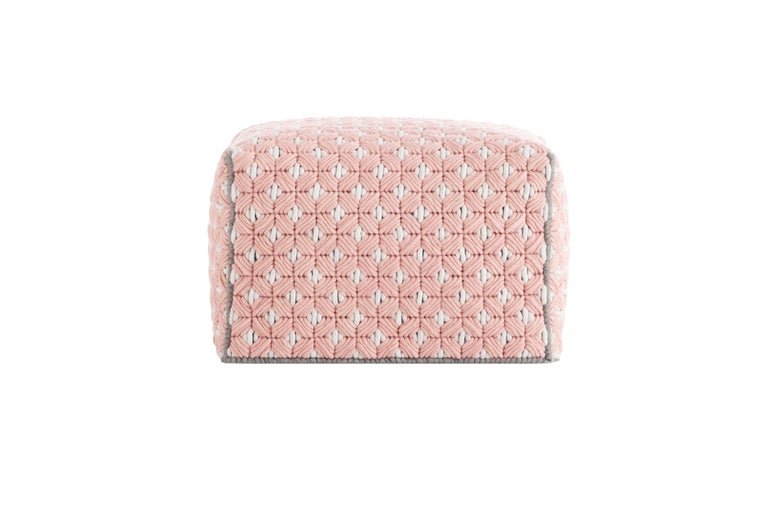 For Sale: undefined (Pink) GAN Silaï Small Pouf in Wool