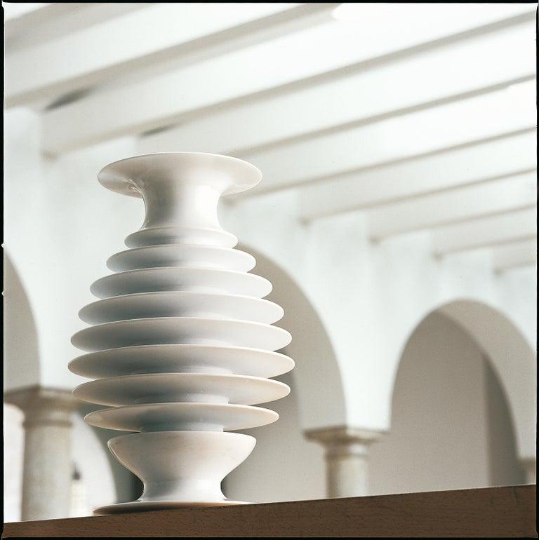 Ittio vase in Bianca Carrara marble designed by the Davani Group & Kreoo.