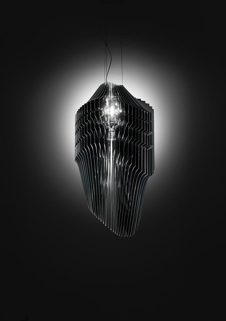 Modern Slamp Avia Large Pendant Light in Black by Zaha Hadid For Sale