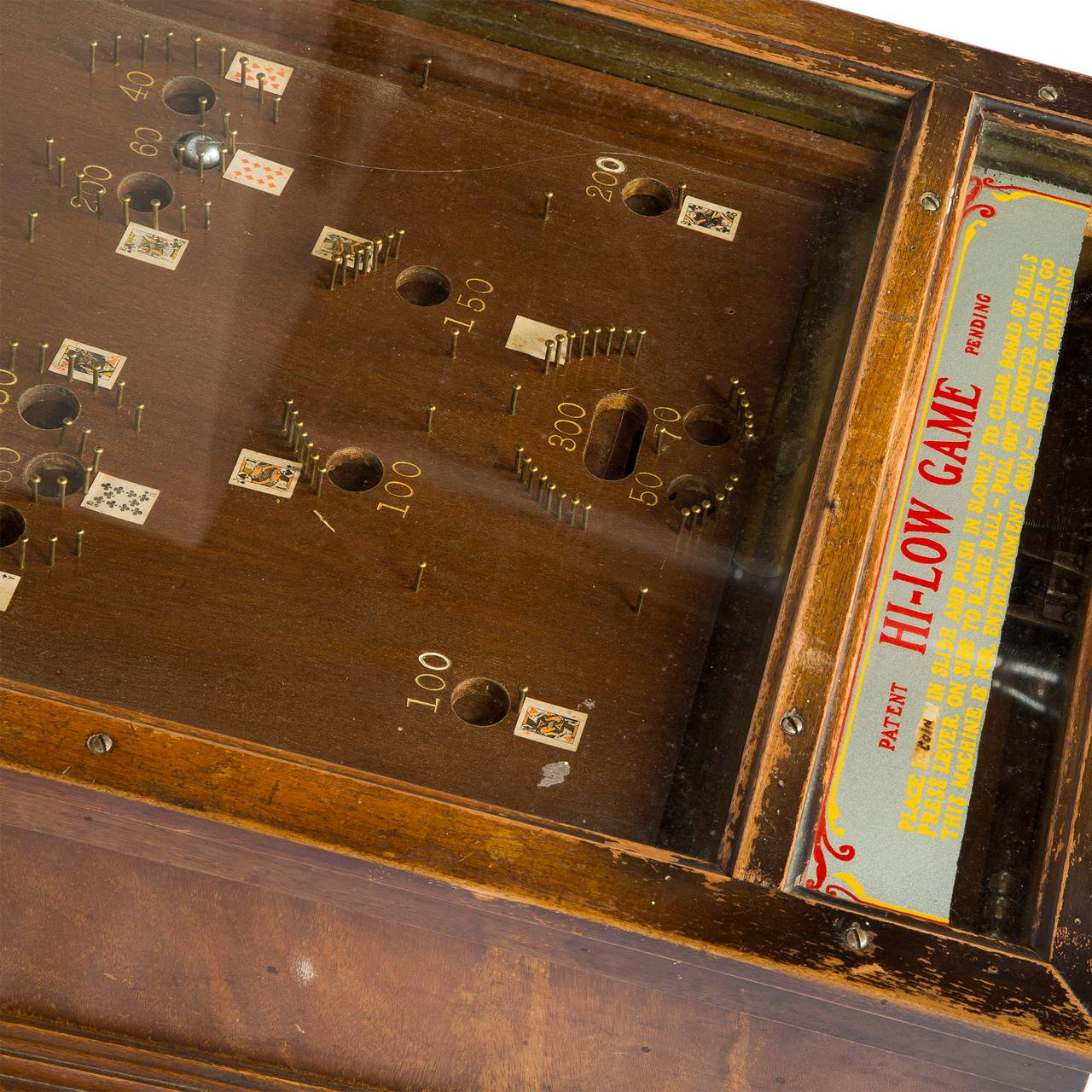 1932 Dallas Novelty Antique Hi Low Pinball Game For Sale