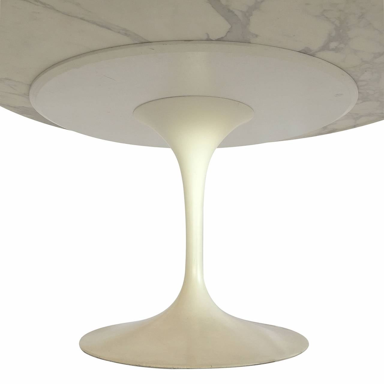 Eero Saarinen Marble Top Tulip Table At 1stdibs