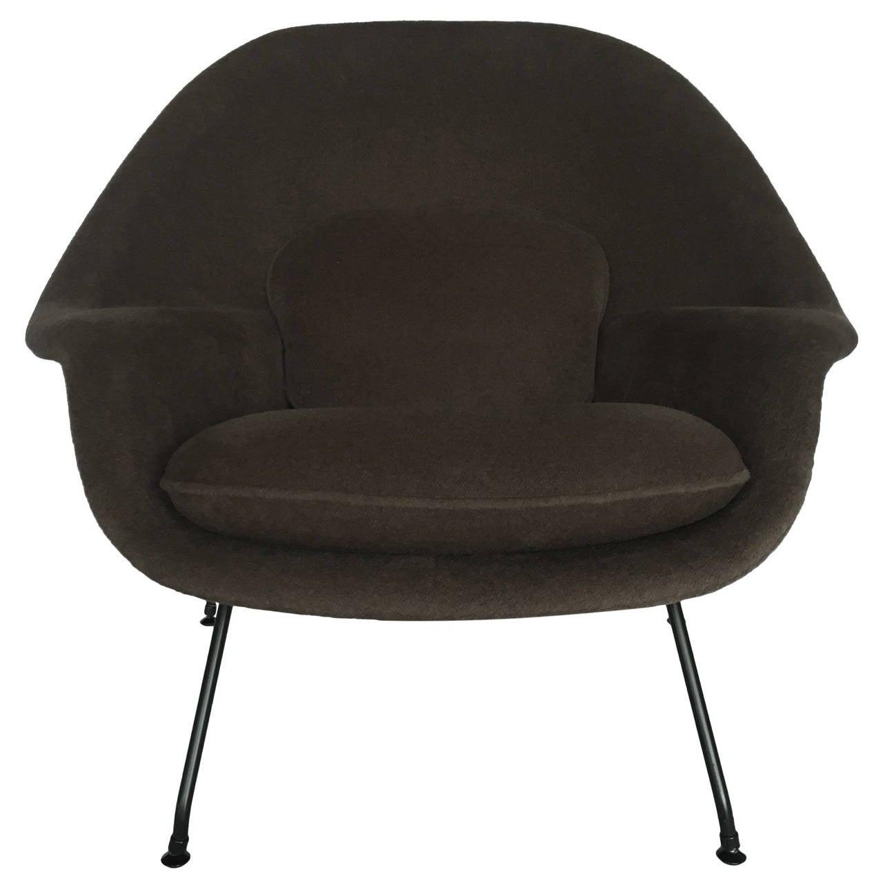 eero saarinen womb chair for knoll reupholstered in loro piana alpaca at 1stdibs. Black Bedroom Furniture Sets. Home Design Ideas