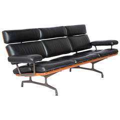 1st Year Production Very Rare Ray & Charles Eames Three-Seat Sofa