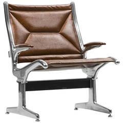 Eames for Herman Miller Tandem Sling Chair in Copper Edelman Leather - SALE
