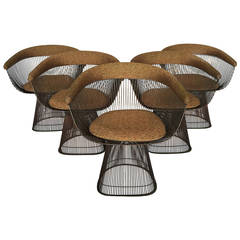 Warren Platner Bronze Wire Dining Chairs