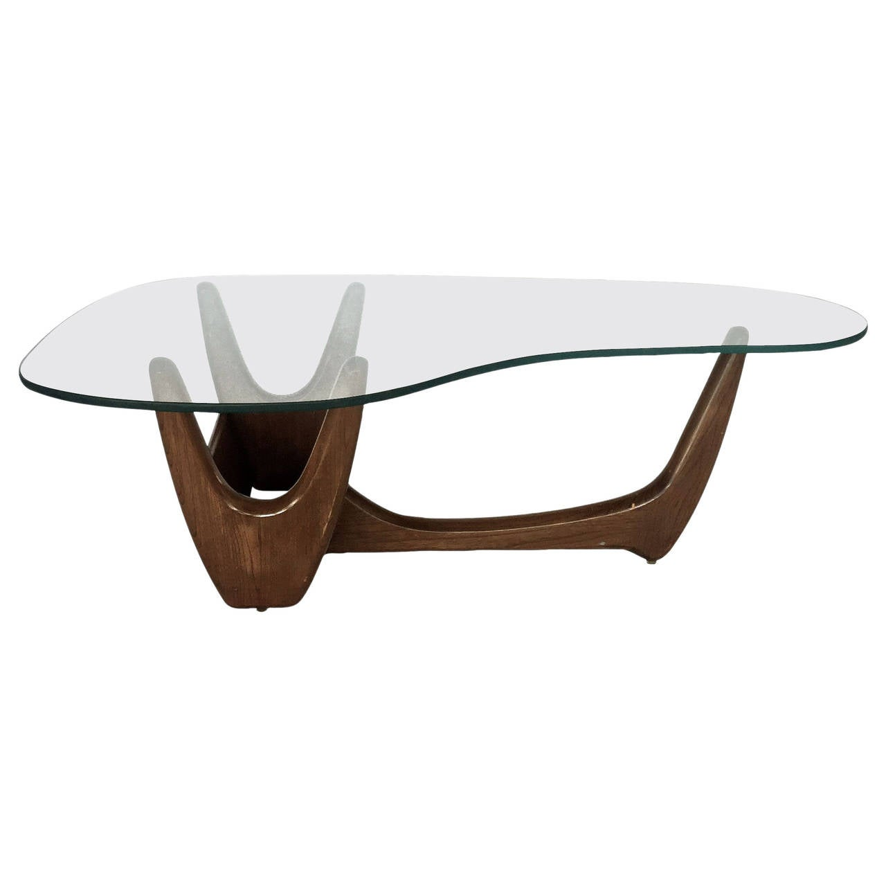 Glass Top Planter Coffee Table By C E Waltman For Tonk