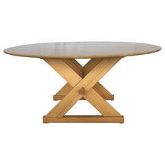 Paul Laszlo for Brown-Saltman Dining or Game Table with Copper Accents