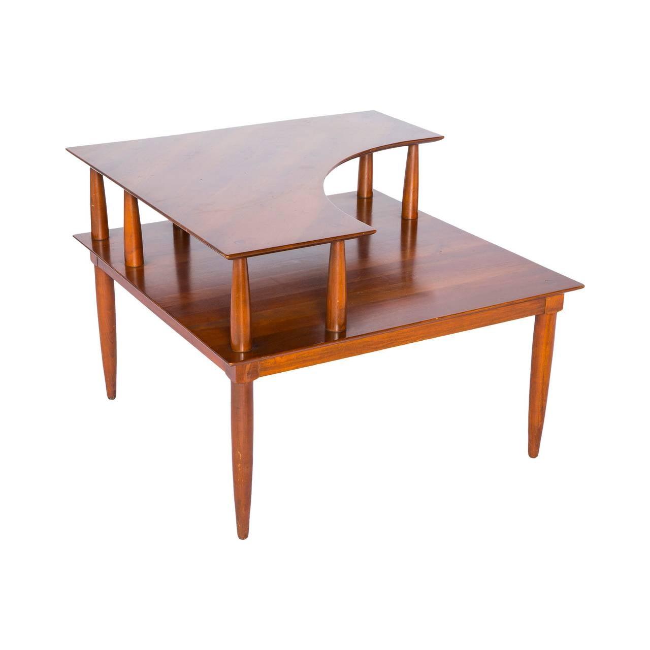 Modern Corner Table Mid Black Glass Square Nova