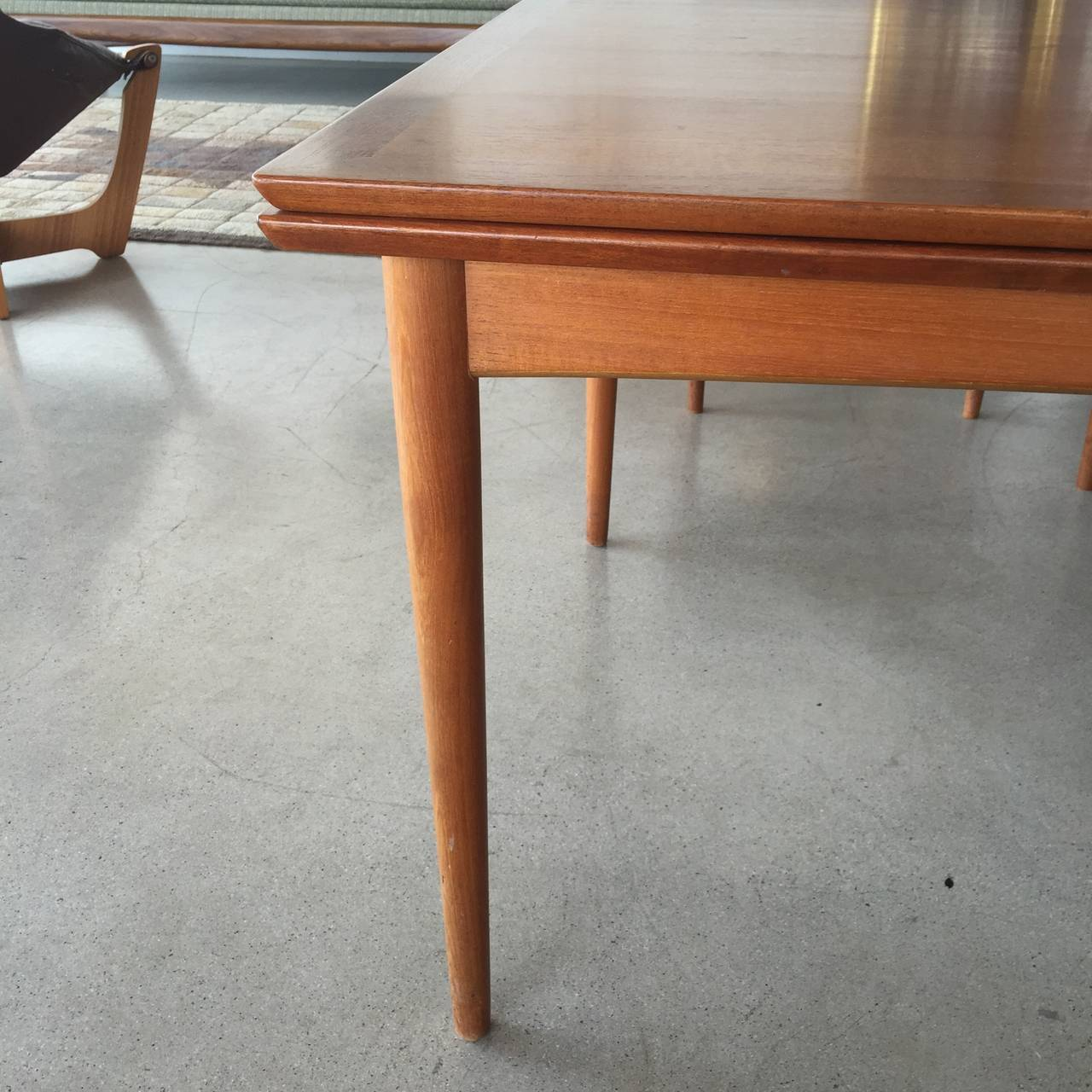 this danish modern expandable teak dining table is no longer available