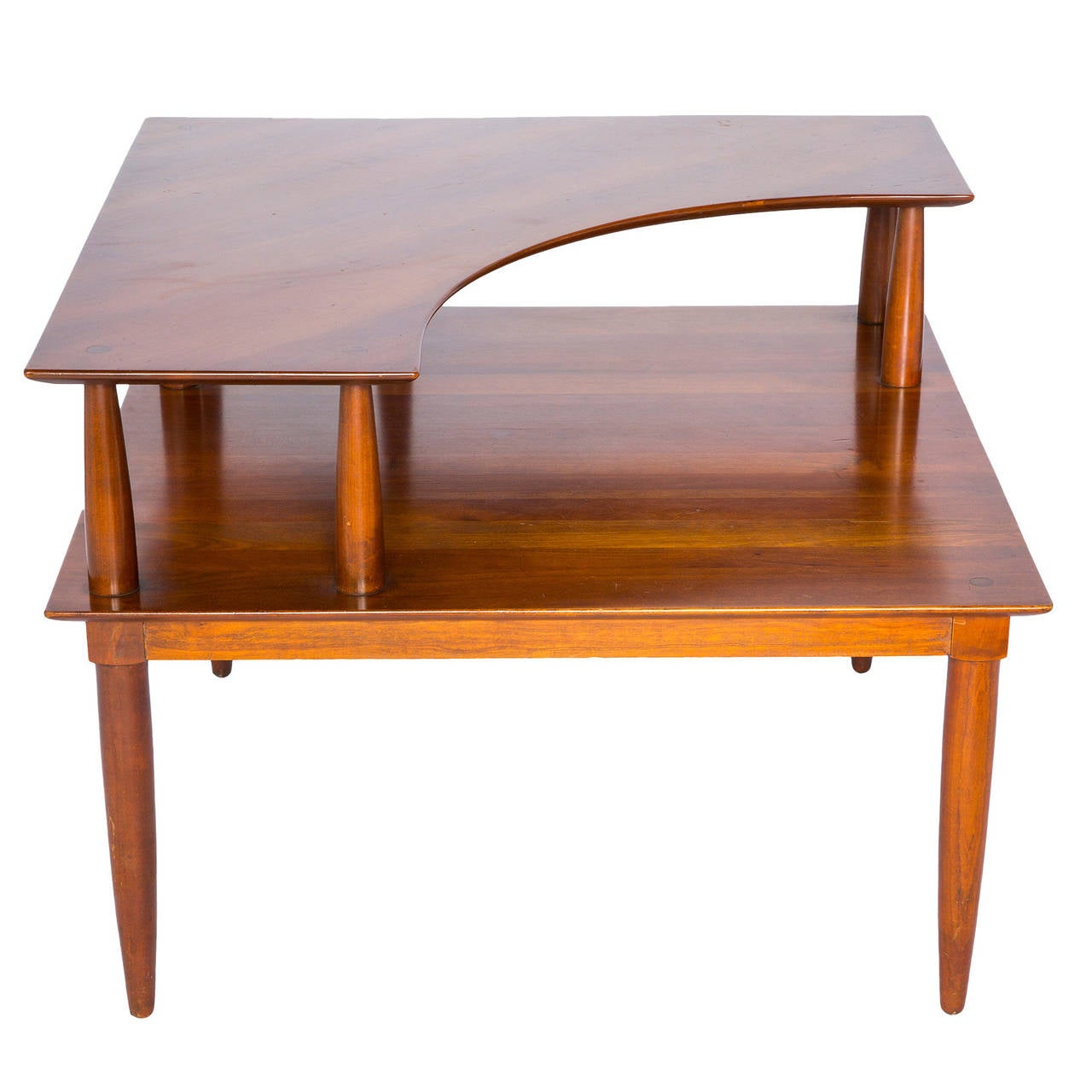 Danish modern corner cocktail table at 1stdibs for Modern furniture coffee table