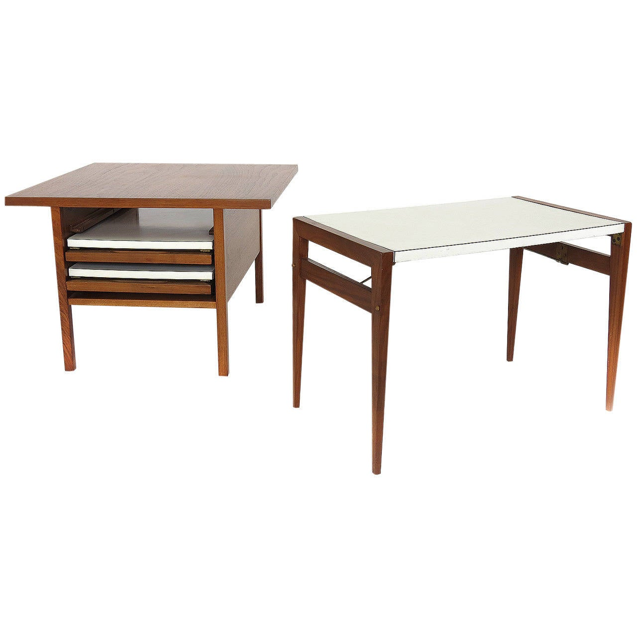 John keal coffee table with folding side tables at 1stdibs Folding coffee table