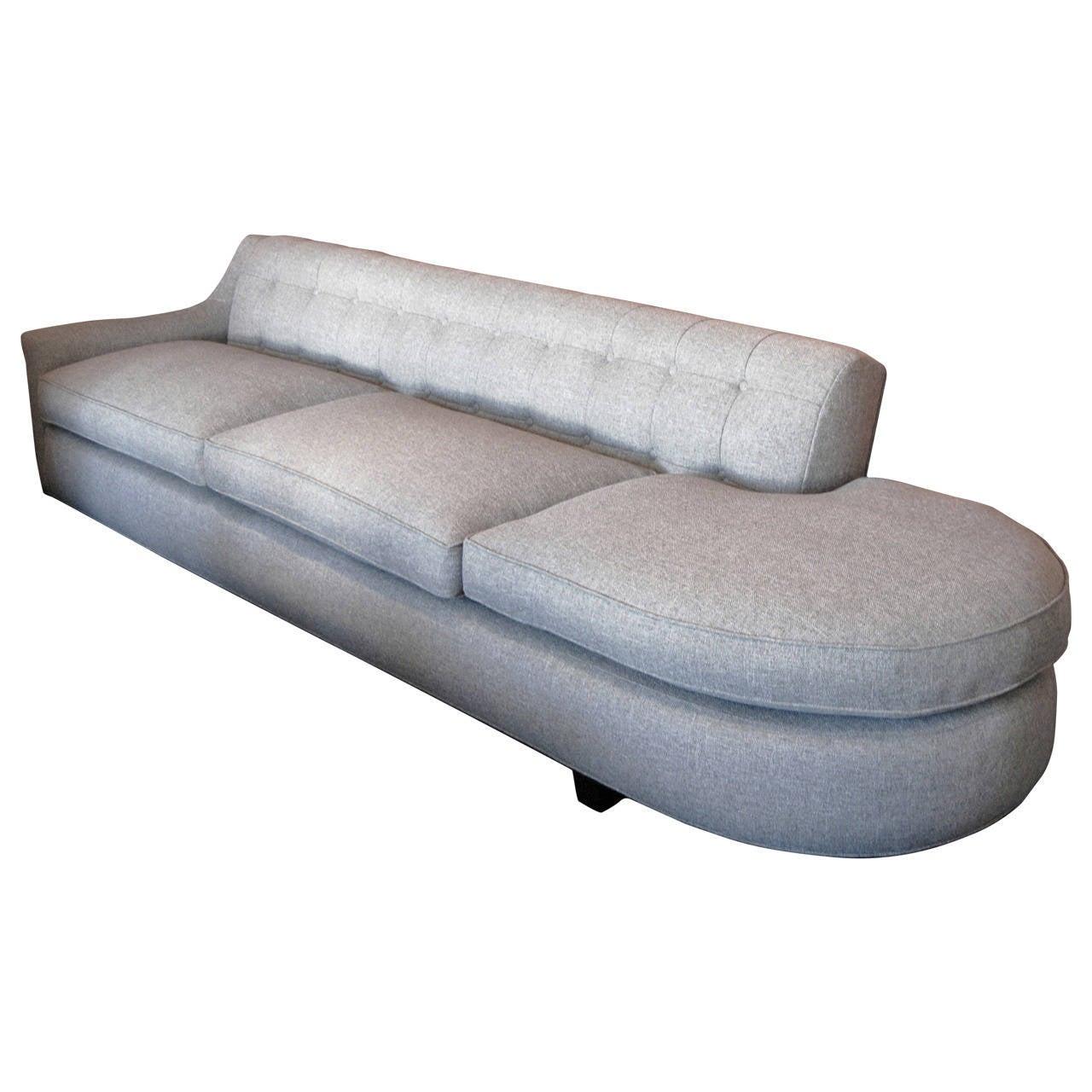 Grey One Arm Sofa At 1stdibs