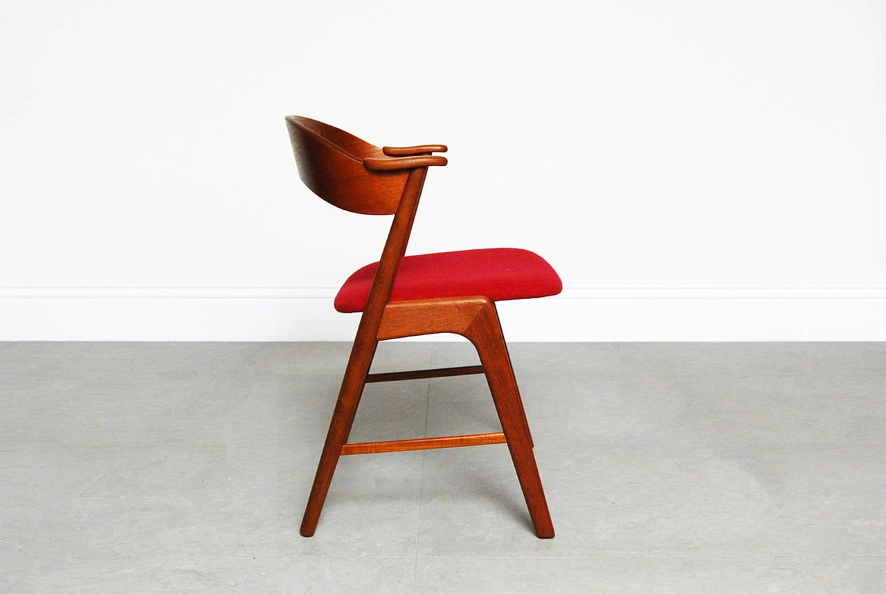 Kai Kristiansen Teak Desk Chair At 1stdibs