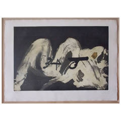 Antoni Tapies Abstract Lithograph Print, Spain