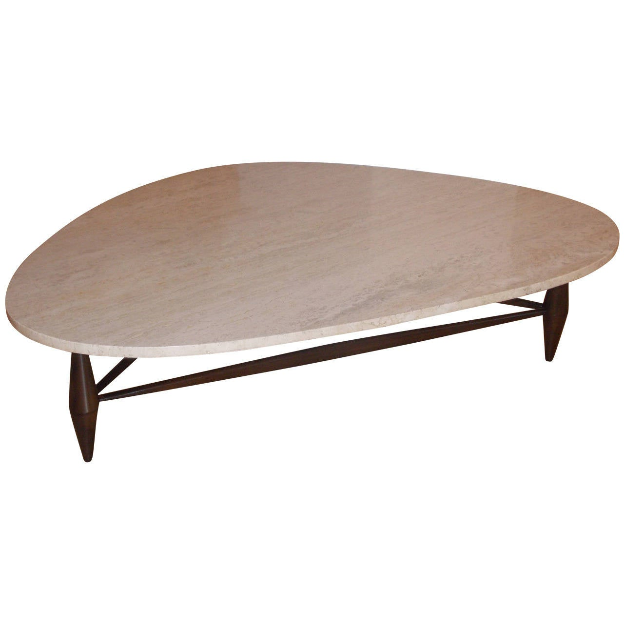 Mid century marble top coffee table at 1stdibs Stone top coffee table