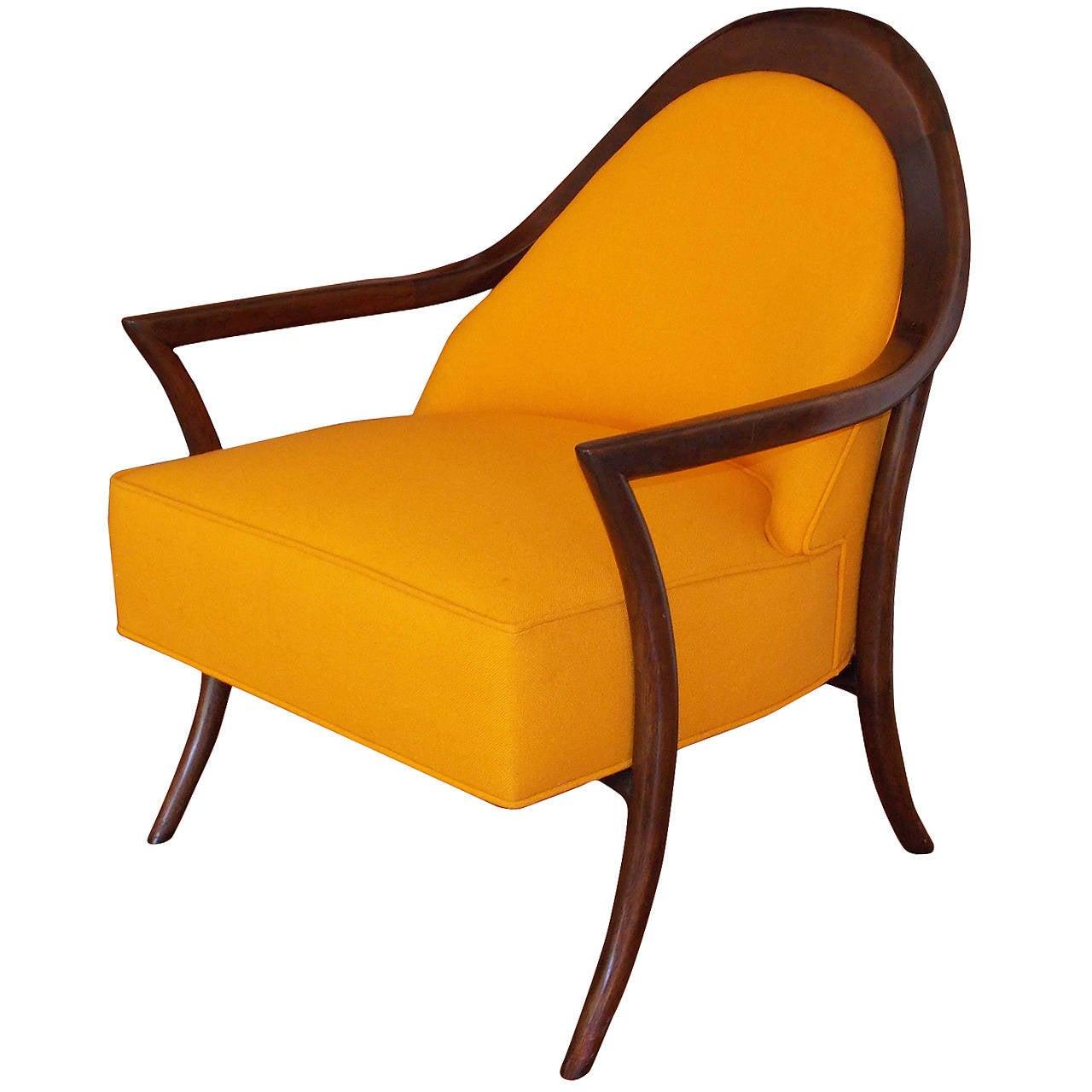T h robsjohn gibbings lounge or anywhere chair at 1stdibs for Anywhere chair